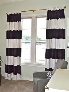 Curtains Black And White Interior Endearing Black And White Striped Curtains For Windows Covered Founded Project