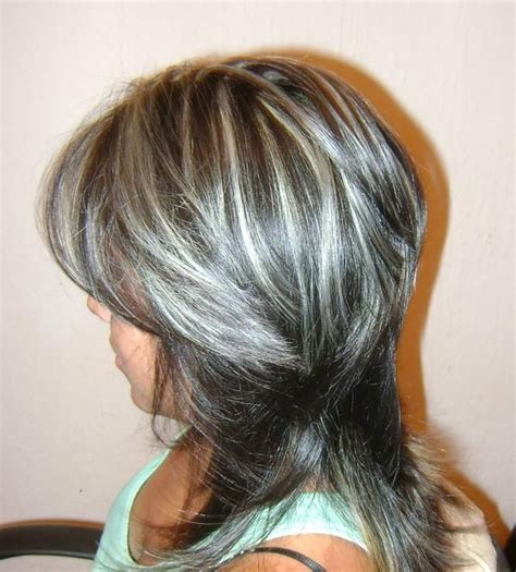 frosted hair highlights for dark hair streaked highlighted streaked foiled frosted hair 1
