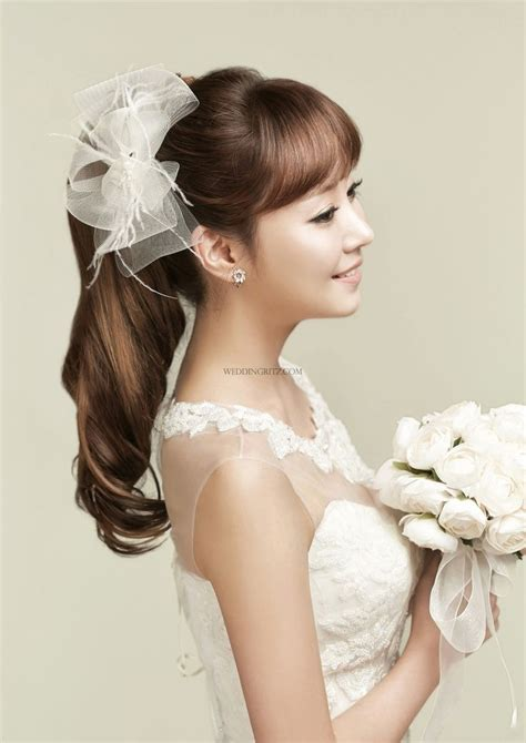 korean bridal hairstyles 134 best korean bridal hair makeup images on pinterest