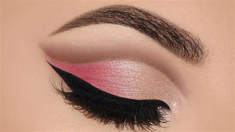 Cut Pink soft pink cut crease makeup tutorial samways