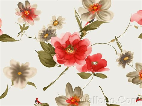 flower pattern for painting artistic flower patterns watercolor effect 24 wallcoo net