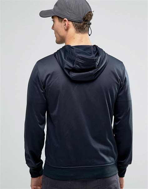 Hoodie Zipper Theater Logo Navy Xxxv Cloth lyst ea7 emporio armani tricot zip up hoodie with logo in blue for