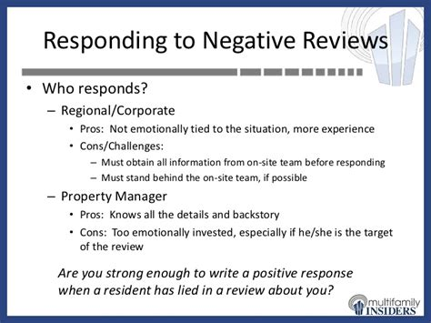 Appartment Rating by Apartment Ratings How To Respond To Negative Reviews