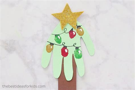 christmas tree handprint poem handprint card handprint tree card