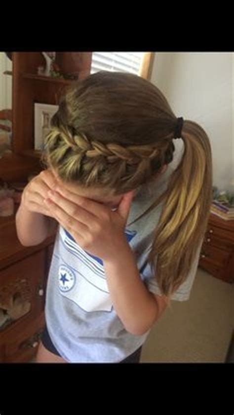 hairstyles for basketball games ponytail french braid hair styles pinterest