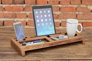 wooden desk organizers the handmade wooden desk organizer with tablet and phone