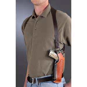 Leather vertical shoulder holster for springfield 1911 4 quot 5 quot ebay