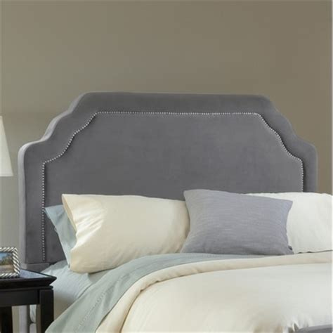 King Fabric Headboards by Buy Kaylie Upholstered Headboard Size King Finish Pewter