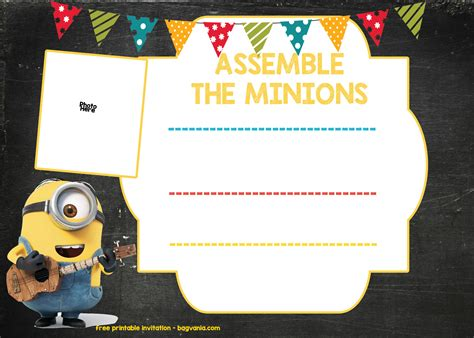 free minion invitation template minion birthday invitation template free