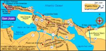 San Juan Puerto Rico Map by San Juan Map Online Map