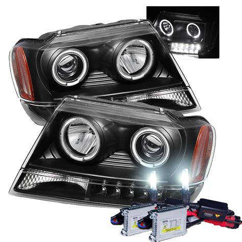 Jeep Hid Headlights Hid Xenon 99 04 Jeep Grand Eye Halo Led