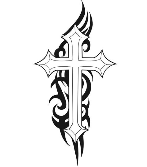 spiritual tribal tattoos christian cross tattoos cool cross tattoos designs
