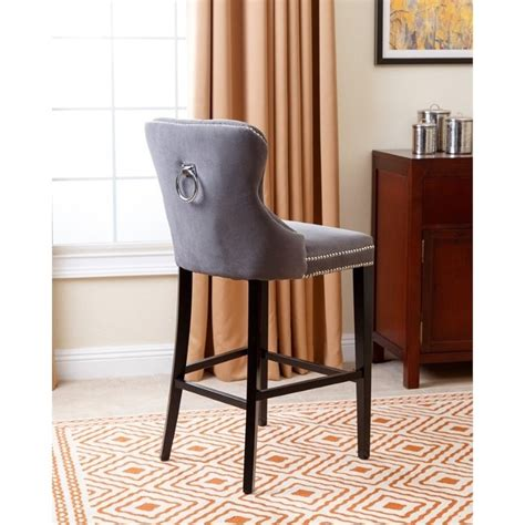 Blaise Bar Stool by Abbyson Living Blaise 30 Quot Tufted Upholstered Bar Stool In