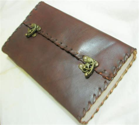 Handmade Paper Diary - handmade paper leather journal large blank diary vintage