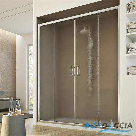 ante per doccia box cabina doccia nicchia parete porta 2 ante cristallo