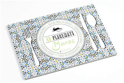How To Make A Paper Placemat - maroc paper placemats paperme se
