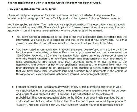 Visa Letter Confirming Relationship uk visa refused 3 6 a of appendix v deception travel stack exchange