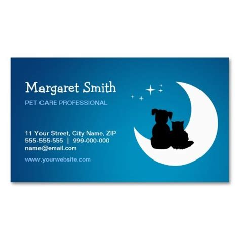 pet sitter business cards pet sitter animal care business card