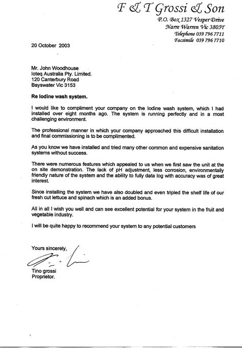 Recommendation Letter Header Employment Reference Letter