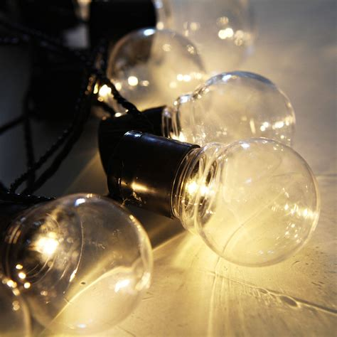 Clear Globe String Lights Outdoor Lights String Lights Decorative String Lights Clear Globe Connectable In Festoon