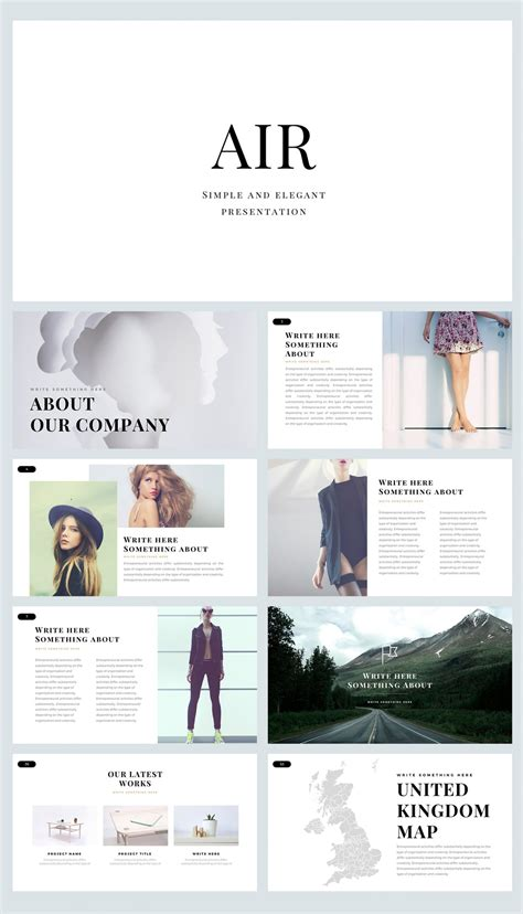 Air Free Powerpoint Template 9 Slides Just Free Slides Air Powerpoint Template