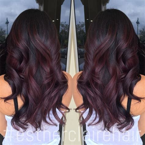 steps to doing burgundy hair with brown and caramel highlights burgundy balayage ombre google search hair ideas