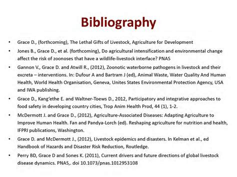How To Make A Bibliography For A Research Paper - zoonoses the lethal gifts of livestock bibliography slid
