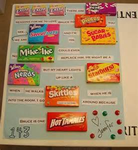 What To Buy Your Boyfriend To Say Sorry by Candy Bar Poster Ideas With Clever Sayings