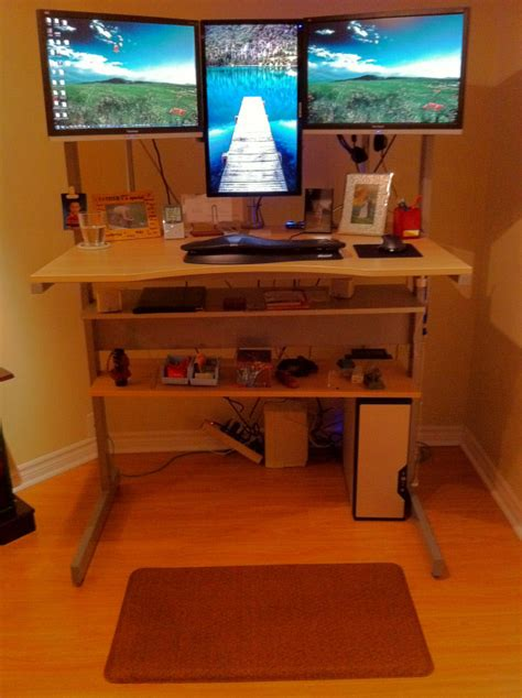 How To Raise A Desk by Day 1 Of Move To A Stand Up Desk Brian Nesbitt