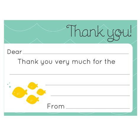 free template for a small thank you card 34 printable thank you cards for all purposes baby