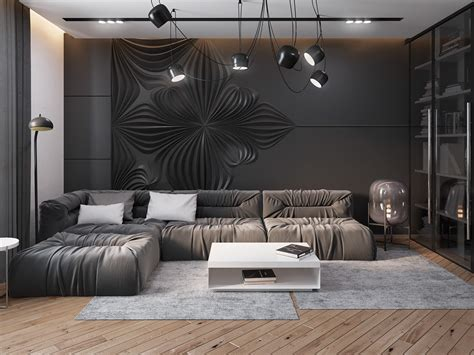 room wall ideas dark living room home design