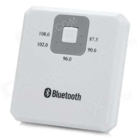 Bluetooth Wireless Companion Transmitter White 1 bluetooth v2 1 audio signal receiver fm audio transmitter for car white free shipping