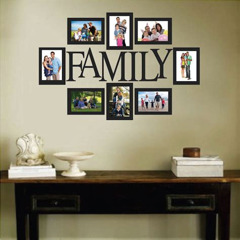 family wall picture frames family picture frame wall decal trendy wall designs