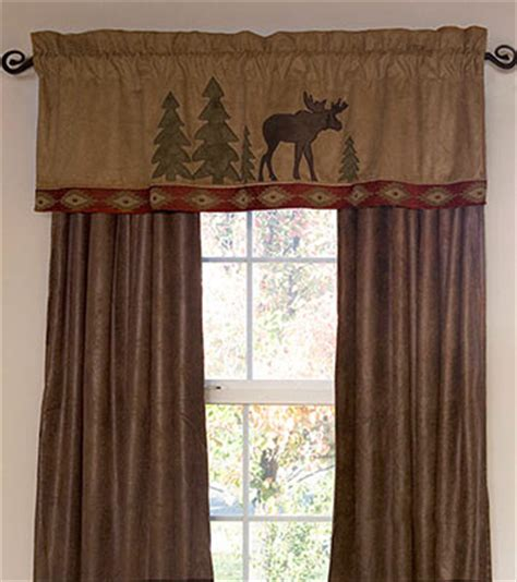 lodge curtains moose lodge valance and drapes curtians window treatments