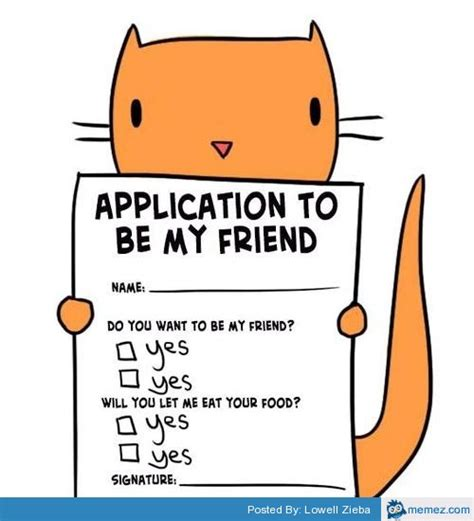 Application Meme - application to be my friend memes com
