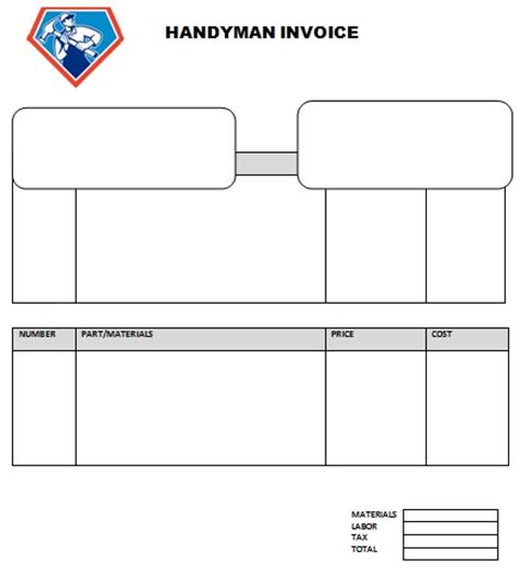 Handyman Service Receipt Template by 14 Practiced Handyman Invoice Templates Demplates