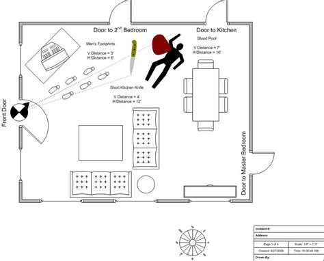 Police And Fire Crime Scenes Set Free Visio Stencils Shapes Templates Add Ons Shapesource Crime Diagram Templates