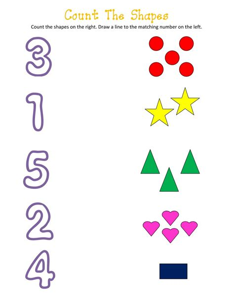 printable number shapes printable number and shapes activity shelter
