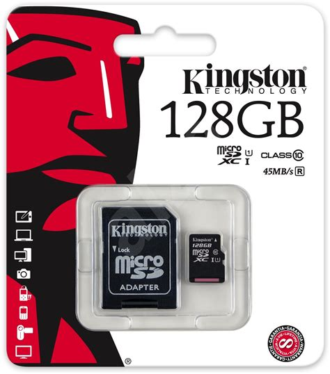V Micro Sd Hyper Adapter 256 Gb kingston micro sdxc 128 gb class 10 uhs i sd adapt 233 r