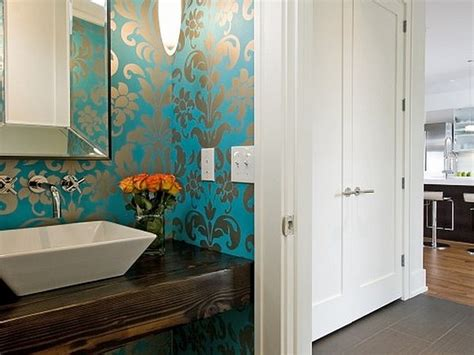bathroom wallpaper modern contemporary bathroom wallpaper ideas image mag