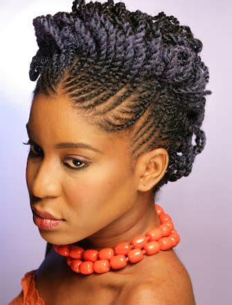 african 2 strands hair styles for older black woman flat twist two strand twist updo natural hair side