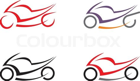 motorcycle on white background vector icon can be used
