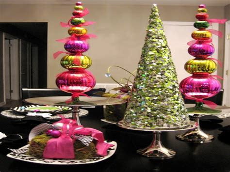 modern tabletop decor diy christmas table decoration