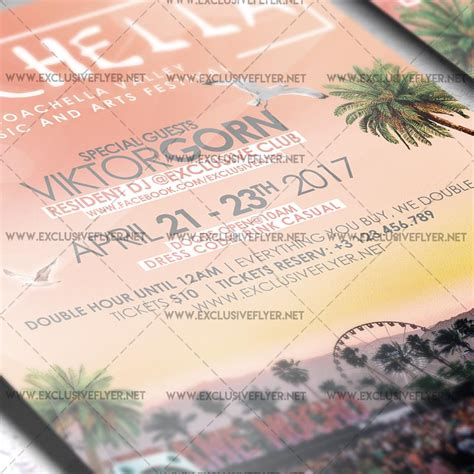 Coachella Premium A5 Flyer Template Exclsiveflyer Free And Premium Psd Templates Flyer Template 2