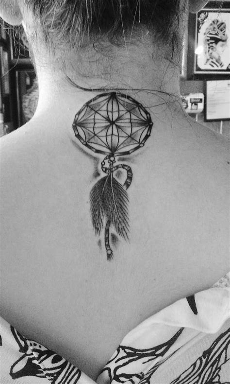dream catcher tattoo back of neck dream catcher back of neck tattoo tattoos pinterest