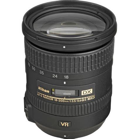 nikon af s dx nikkor 18 200mm f 3 5 5 6g ed vr ii lens 2192 b h