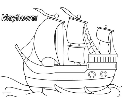 Mayflower Coloring Pages free the mayflower coloring pages