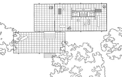 Farnsworth House Floor Plan by Canoe Design Farnsworth House