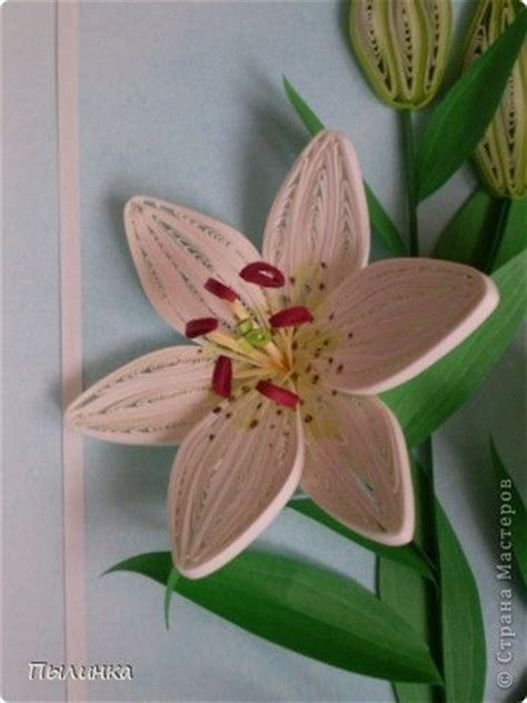 quilling lily tutorial lilies quilling and step by step on pinterest