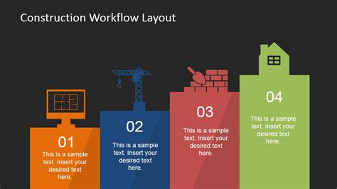 workflow layout construction workflow layout for powerpoint slidemodel